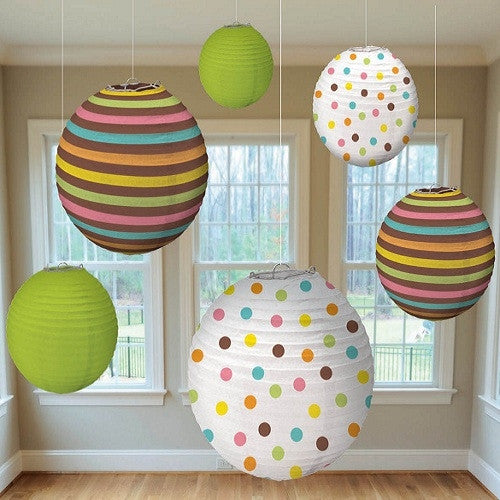 Paper Lanterns - Pastel (Set of 6)