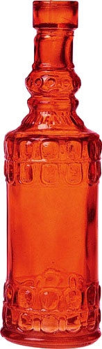 Vintage Glass Bottle - Round - Orange