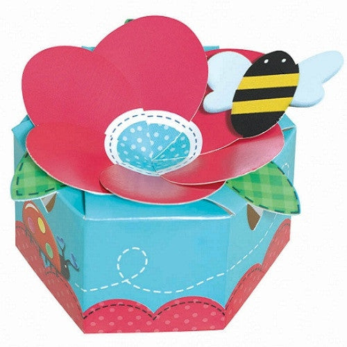 Flower favor Box with bee