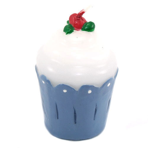 Frosted Cupcake Candle - Blue