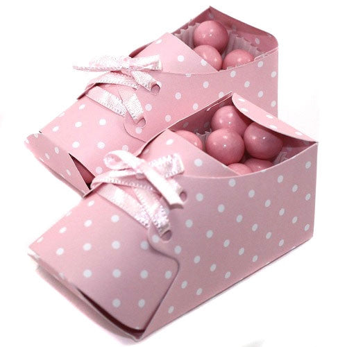 Lovely baby Booties - Pink - Favor Boxes
