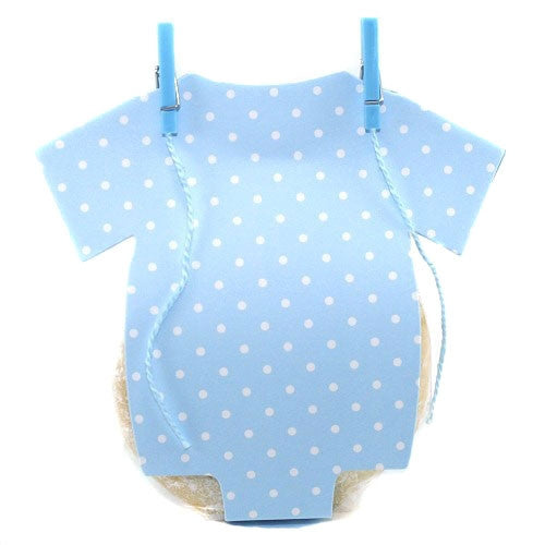 Cute Onesie Favor Box - Blue