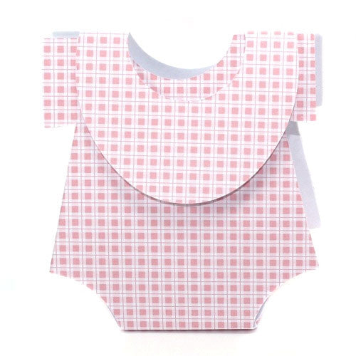 Gingham Onesies - Pink favor box
