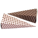 Cone Box - Pink & Brown (8 per Pack) - Cone Box - Pink & Brown