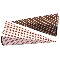 Cone Box - Pink & Brown