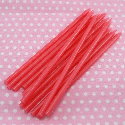 Extra Long Cake Candles - Bright Pink
