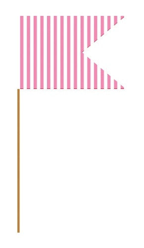 Fuchsia Cupcake Flag Picks