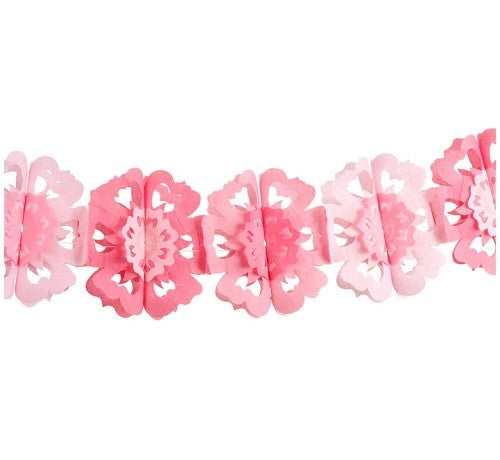 Pretty in Pink Flower Garland