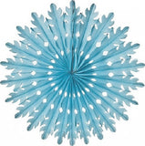 Honeycomb Tissue Fans Blue Nutcracker Party