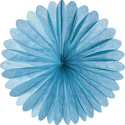 Paper Daisy Fans Tissue Fans Blue Frozen Party