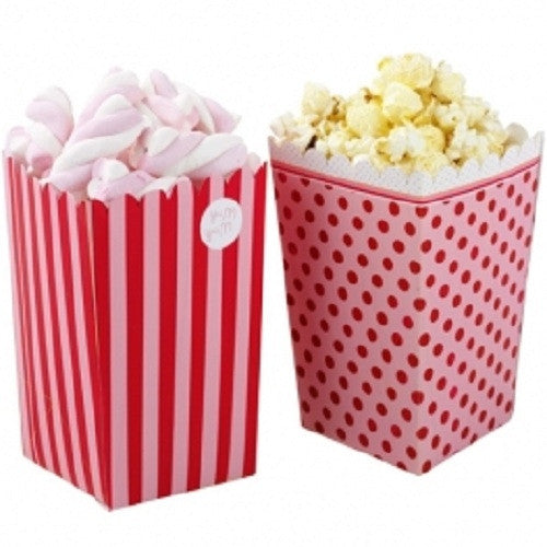 Popcorn Holder - Pretty in Pink (Set of 8)