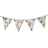 Flag Banner - Birdcage - Tea Party flag banner with flower illustrations