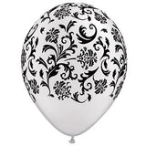 Balloon - Damask - White & Black - Balloon Damask White and Black