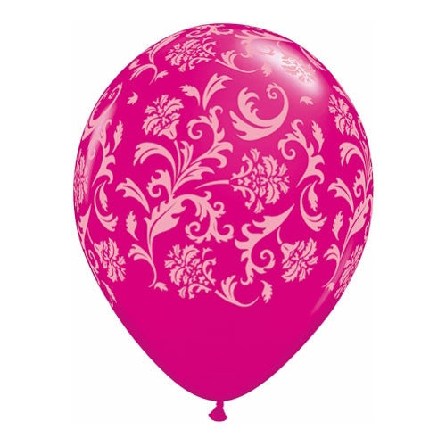 Balloon Damask Pink & White
