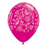 Balloon - Damask - Pink & White - Balloon Damask Pink & White