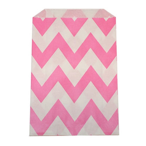Chevron Treat Bag - Pink