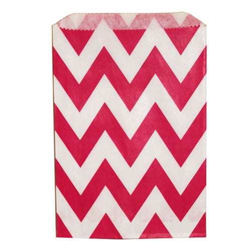 Chevron Treat Bag - Red