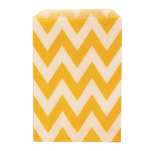 Chevron Treat Bag - Yellow