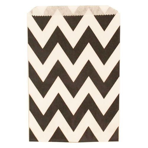 Chevron Treat Bag - Black