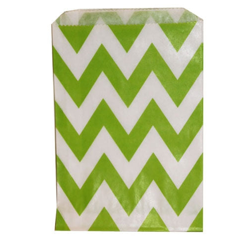 Chevron Treat Bag - Green