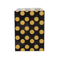 Treat Bag - Bumble Bee Polka Dot Yellow Black