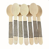 Chevron Wooden Spoons - Black - Full Size - Chevron Wooden Spoons - Black - Full Size