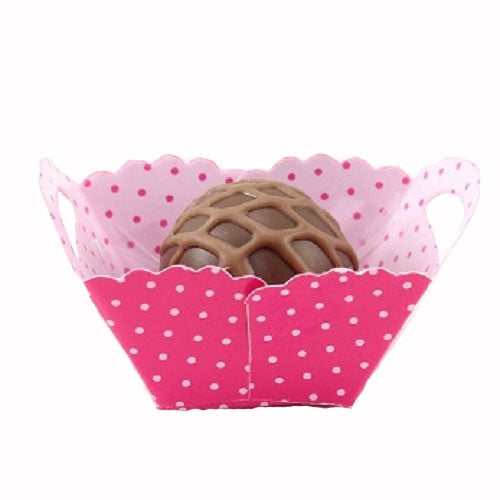Petite Baskets - Polka Dot Pink - Small