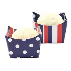 Petite Cups - Navy, Red & White (24 per Pack)