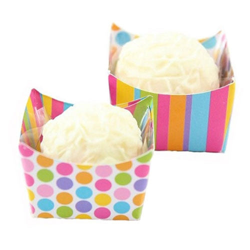 Petite Cups - Pastel Dots & Stripes (24 per Pack)