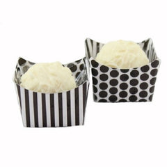 Petite Cups - Black Dots & Stripes (24 per Pack)