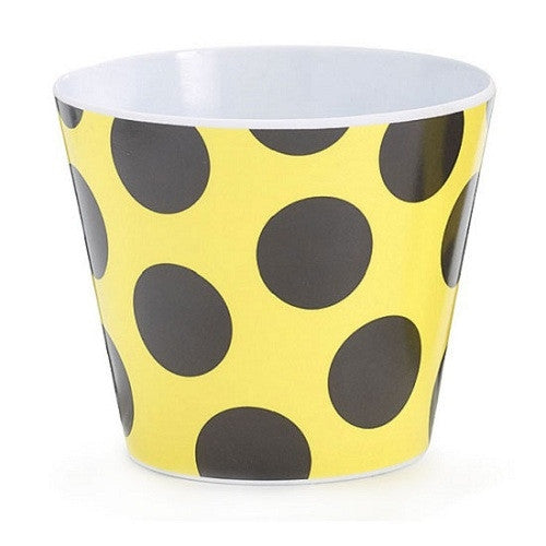 Bowl - Bumble Bee Polka dots Black - Yellow