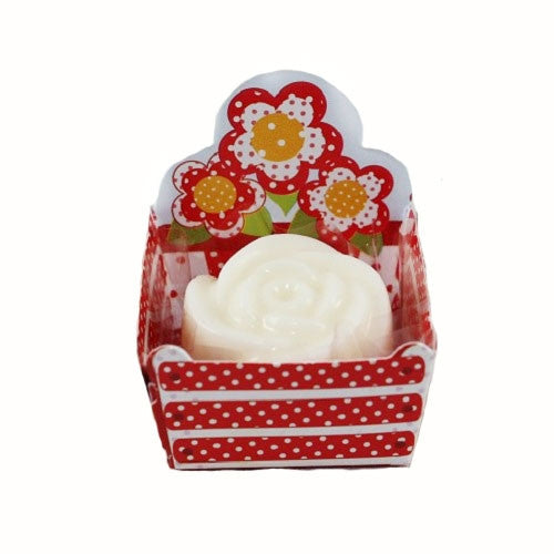 Petite Cups - Flower Basket - Red