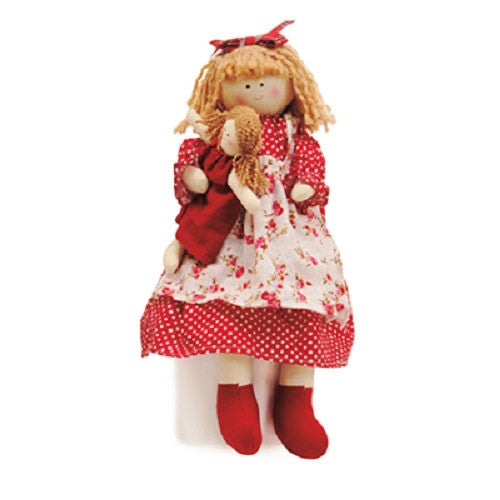 Rag Doll with Polka Dot Dress for birthday parties