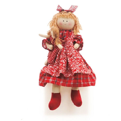 Rag Doll with Gingham Dress for Birthday parties