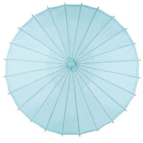 Blue 28 inches paper parasols and bamboo frame