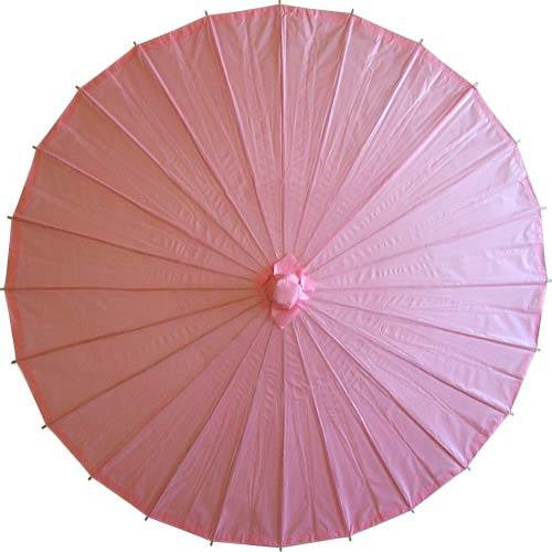 Pink 28 inches paper parasols and bamboo frame
