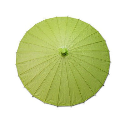 Green 20 inches paper parasols and bamboo frame
