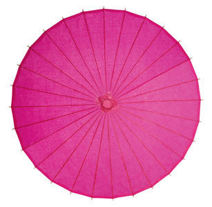 Fuchsia 28 inches paper parasols and bamboo frame
