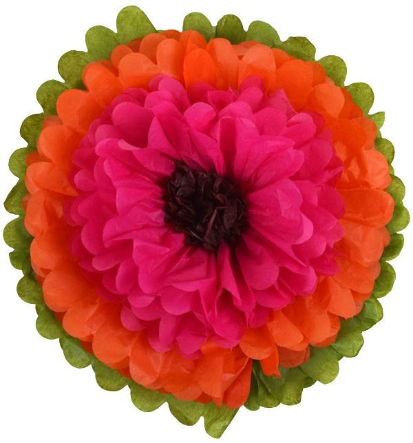 Tissue Paper Flowers Tangerine Mexican Fiesta Halloween Day of the Dead Party
