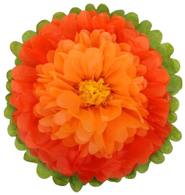Tissue paper flower via blossom tissue paper flowers orange mexican fiesta halloween day of the dead party mightylinksfo