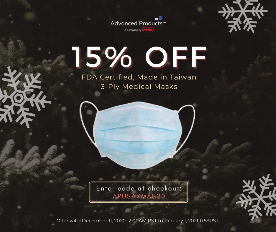 15P off 3-Ply Medical Masks Year-End Sale