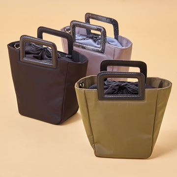 NYLON×PU 2WAY TOTE