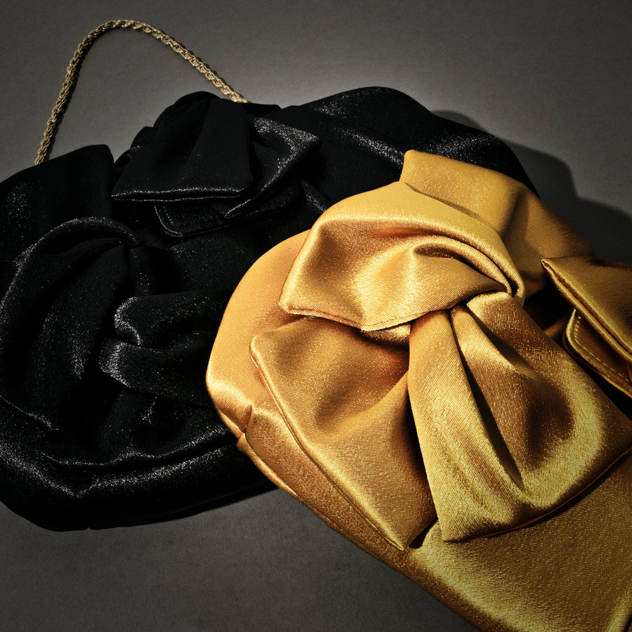SATIN RIBBON CLUTCH