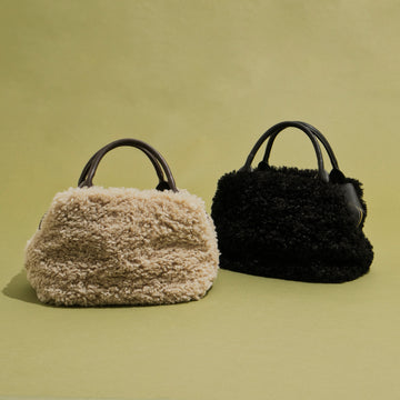 FAKE FUR×LEATHER BAG