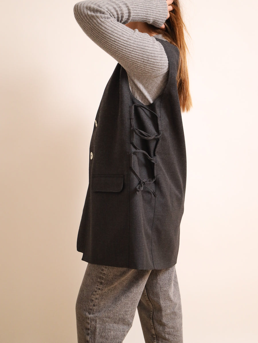 Wool Blend Suiting Vest