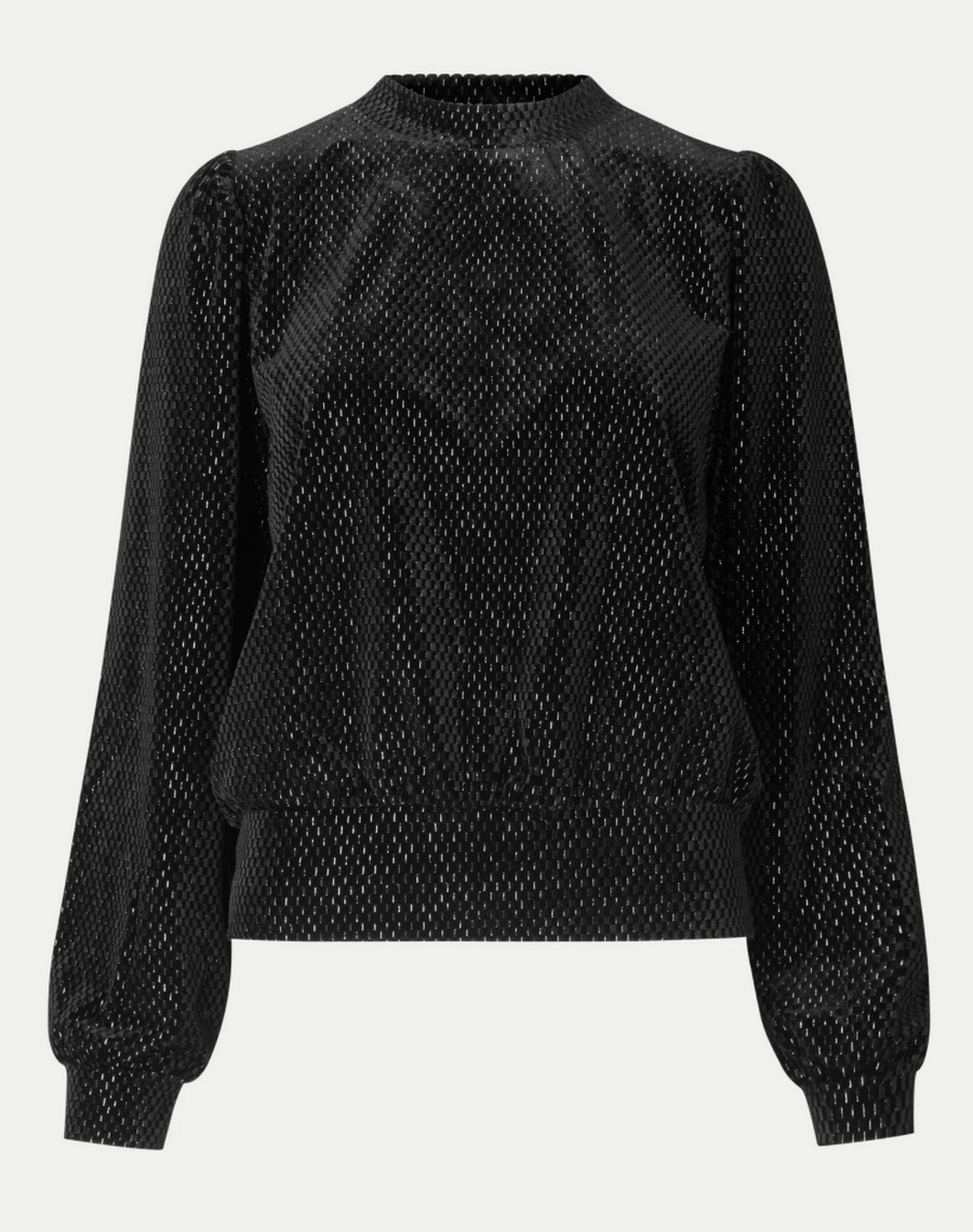 Metallic Velour Sweatshirt