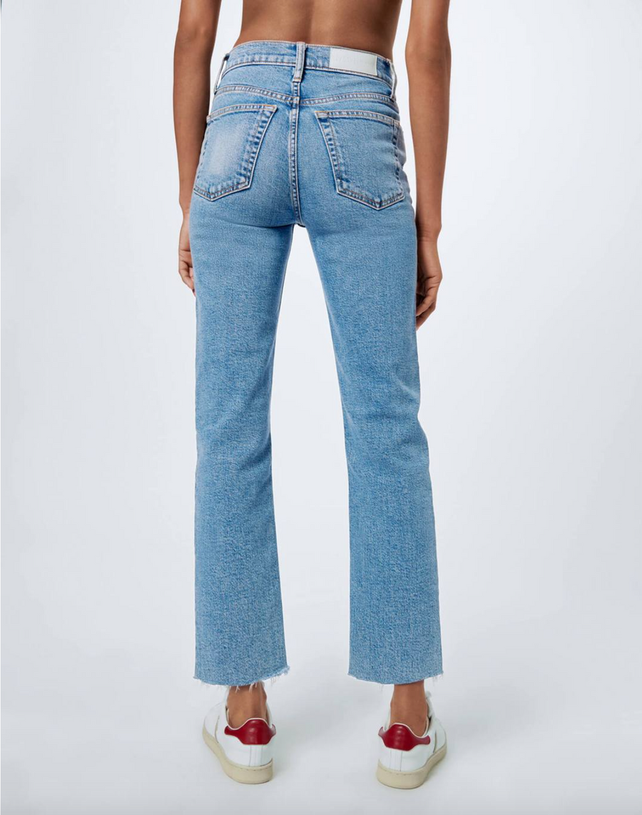 High-Rise Stove Pipe Jeans