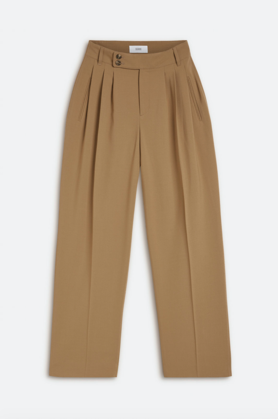 Wide Wool-Blend Pants