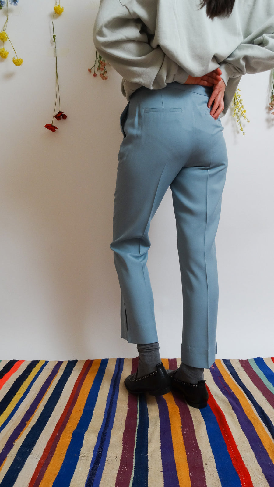 Suit Pants With Side Slits