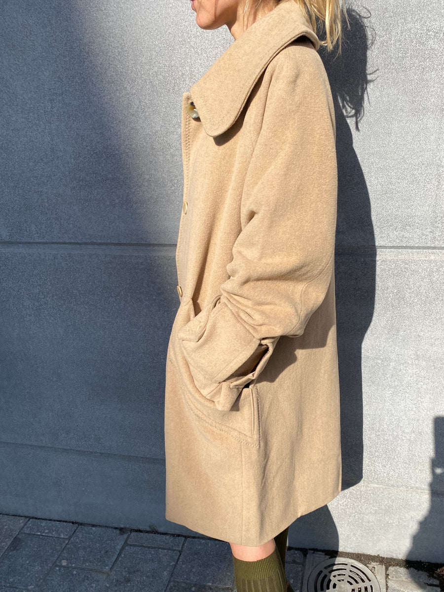 Recycled Wool-Blend Coat